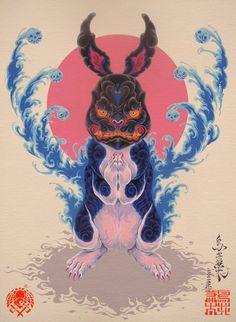 Japanese Rabbit by Kenta Torii.