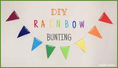 Shabby Mommy: DIY: Rainbow Bunting (εορταστικά σημαιάκια)