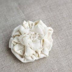 Super lovely Textile Flower Brooch // Vaida Art