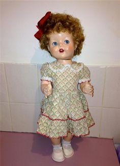 """MARVELLOUS ORIGINAL  22"""" Hard Plastic Vintage Pedigree Knee Bend Walking Doll #Pedigree"""