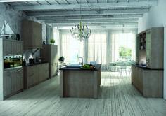 messilhac portes et faces de tiroirs en ch ne massif vernis naturel poign es acier torsad. Black Bedroom Furniture Sets. Home Design Ideas