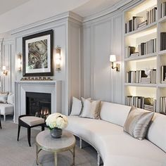 Painting Wooden Furniture Tips Home Library Rooms, Home Library Design, Home Office Design, Home Interior Design, Interior Decorating, House Design, Home Living Room, Living Room Designs, Living Room Decor
