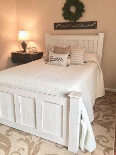 Farmhouse-Inspired Handmade Bed Frame