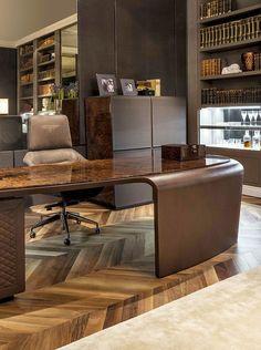 Bentley Home - President Royce desk and Elle armchair www.luxurylivinggroup.com #Bentley #LuxuryLivingGroup