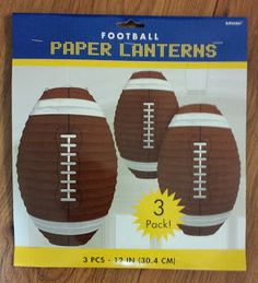 Football paper lanterns for sports theme.