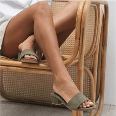 Forrest green sandals