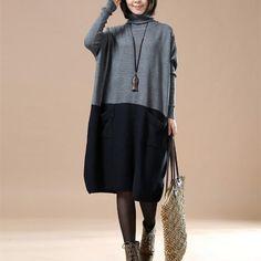 Casual loose cotton Knitted sweater. Winter SweatersRetro FashionKorean  FashionWomens FashionPlus SizeLong SleeveCottonSleevesKnitting a1e562ff828e