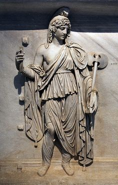 A representation of Phrygia, Roman relief (marble), 2nd century AD, (Museo Archeologico Nazionale, Naples).
