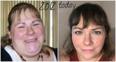 "I started my journey in early 2012 - not longer after seeing that first picture of me! I started THM in October 2014. So these pictures really show how much my face, chin and neck have changed . . . is it just me or do y'all think Trim Healthy Mama is the real-life fountain of youth??"" - Amy L. www.TrimHealthyMama.com"