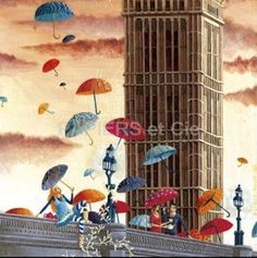 Marie-Anne Foucart carte simple Big Ben Milieu