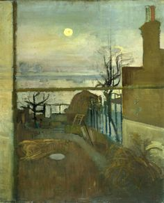 Evening Thames At Chiswick - Victor Pasmore British oil on canvas Great Paintings, Seascape Paintings, Landscape Paintings, Victor Pasmore, Tate Gallery, Art Courses, High Art, Nocturne, Art World