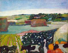 Les Meules (Le Champ de pommes de terre) (détail), 1890 - Paul Gauguin (French, 1848-1903)