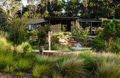 black house in the woods The paths of a farmer's garden are not only practi. black house in the wo Garden On A Hill, Home And Garden, Landscape Design, Garden Design, Landscaping On A Hill, Landscaping Software, Landscaping Tips, Outdoor Landscaping, Australian Native Garden