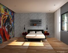 "Check out new work on my @Behance portfolio: ""Interior design of a bedroom."" http://on.be.net/1y2mW4O"