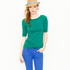 """I love the color combination and I love hats... Note to self """"wear hats more often.""""Painter bateau tee"""