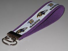 Baltimore Ravens Key Fob Wristlet by OnceDesignedbyDianne on Etsy