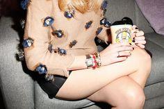 Chiara Ferragni, autora de The Blonde Salad, en 7días/7looks: Brazaletes de Hermès y Kenneth Jay Lane