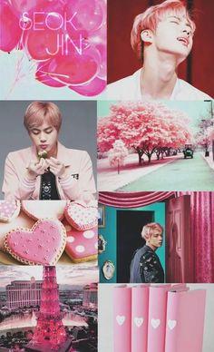 seok jin bts bangtan boys pink