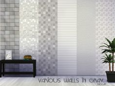 The Sims Resource: Various walls in gray by Paogae • Sims 4 Downloads
