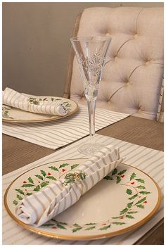 journey of doing - Christmas table setting ideas; Lenox holiday china, Kate Spade Harbour Drive; Waterford Snowflake Wishes