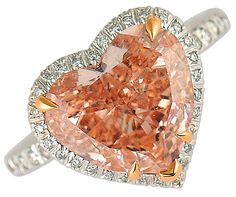 60 Pretty pink diamond heart-shaped ring.