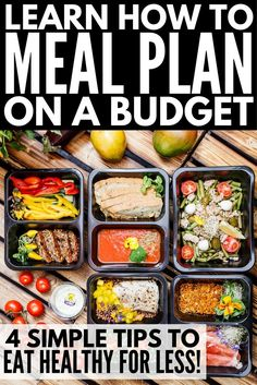 Want to create a weekly meal plan on a budget to help you lose weight and get back in shape? We're sharing 4 simple tips you can implement TODAY to help you learn the art of meal prep(Fitness Recipes Meal Planning) Keto Meal Plan, Healthy Meal Prep, Diet Meal Plans, Healthy Snacks, Healthy Eating, Eating Healthy On A Budget For One, Healthy Meal Planning, Inexpensive Healthy Meals, Vegetarian Meal