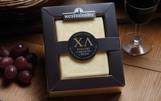 Packaging helping to give this cheese an upmarket feel
