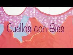 ♥ Cuellos y escotes con Bies - YouTube