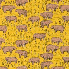 Bomull karry m brune bjørner