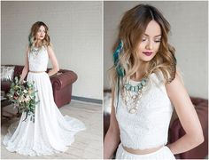 Eclectic Dallas Stylized Shoot. The bride is wearing Martina Liana separates. Together.Forever