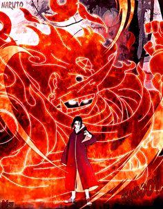 Itachi Uchiha (うちはイタチ) with Susanoo Naruto Shippuden Sasuke, Itachi Uchiha, Anime Naruto, Madara Susanoo, Itachi Akatsuki, Gaara, Boruto, Kakashi, Itachi Mangekyou Sharingan