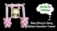 Baby shower decoration with balloons - Balloon door hanger - YouTube