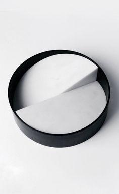 Isabell Gatzen | Let It Slide Bowl | Parthenon marble + anodised aluminum