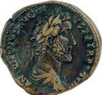 """Ancient Roman bronze coin of Emperor Marcus Aurelius, featured in the 2000 film """"Gladiator"""""""
