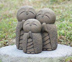PSL Three family Ksitigarbha Handmade statue buddha jizo
