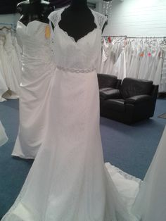 wedding dress in stock lace