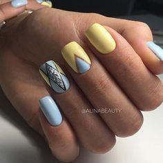 18 Uber-Cool Geometric Nail Art Designs Taking Everyone's Breath Away! Shellac Nails, Diy Nails, Manicure, Acrylic Nails, Nail Polish, Gorgeous Nails, Pretty Nails, Acrylic Nail Designs, Nail Art Designs