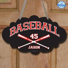 Make Your Room Feel Like The Dugout With Pieces From Our Collection Of Baseball Signs Customize Door Hangers Wall Decals And Metal Here