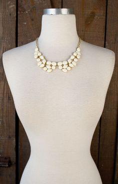 Lizard Thicket - Cream Collar Necklace, $24.50 (http://www.shoplizardthicket.com/cream-collar-necklace/)