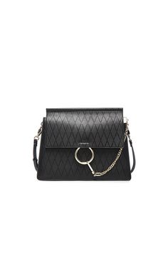 Medium Diamond Embossed Faye Bag