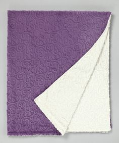 Take a look at this Violet & Ivory Vine Damask Throw by Bebe Bella Designs on #zulily today! $80