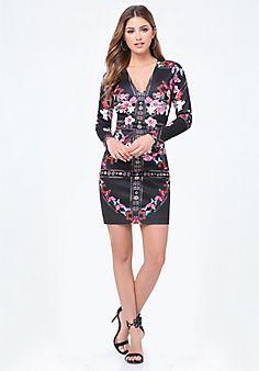 Print+Long+Sleeve+Dress