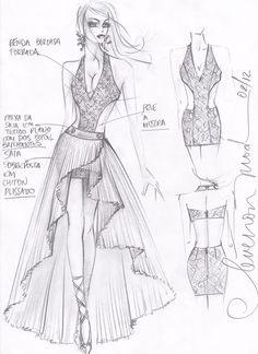 Dress Design By Adobe illustrator CC Dress Design Drawing, Dress Design Sketches, Fashion Design Sketchbook, Fashion Design Drawings, Fashion Sketches, Dress Illustration, Fashion Illustration Dresses, Fashion Art, Fashion Models