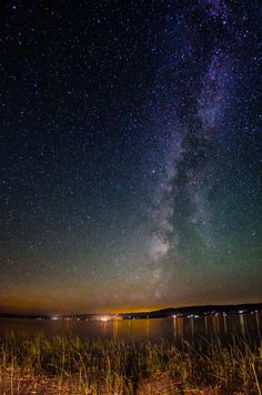 View of the Milky Way, from Bear Lake, Utah.