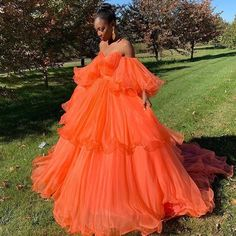 long prom dresses - Ball Gown Orange Prom Dresses Off the Shoulder Evening Dresses with Ruffles, Orange Prom Dresses, Orange Dress, Formal Dresses, Dress Black, Short Dresses, Vestidos Color Naranja, Robes Quinceanera, Off Shoulder Evening Dress, Mode Inspiration
