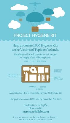 Campaign to Raise Hygiene Relief for the Victims of Typhoon Yolanda