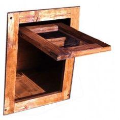 Porticina basculante in legno per cuccia o porte BIDI