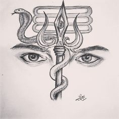 Here you will find most beautiful and attractive Shiva tattoo designs and ideas for your Shiva tattoos, Lord shiva beautiful tattoos and designs for men and women. Mahakal Shiva, Shiva Art, Nataraja, Tattoo Sketches, Drawing Sketches, Art Drawings, Pencil Drawings, Drawing Ideas, Amazing Drawings