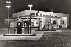The Imperial Northway Esso gas and service station.  1950s