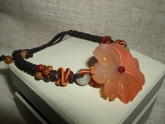 Hand made bracelet in  Green and Orange by AmethystCreationsIT